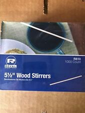 """1000 Wooden Birch Coffee Stirrers 5.5"""" Royal Eco Friendly Free Ship Us Only"""