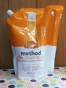 Method Dish Soap Refill Clementine Scent 36 oz Pouch