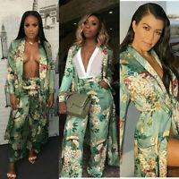 Zara Green Floral Print Kimono SIZE M BLOGGERS KARDASHIANS  SOLD OUT 2416/641