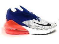 Nike Air Max 270 Flyknit Shoes Mens AO1023 101 White Blue