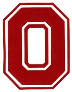 Ohio State Block O decal sticker sizes up to 12 inches Reflective, Chrome etc