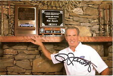 NED JARRETT signed NASCAR CAREER ACHIEVEMENTS PHOTO CARD POSTCARD wCOA #11 FORD