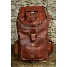 Bag Rucksack Backpack Leather Men Travel School Satchel Laptop Vintage Shoulder