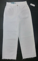 Old Navy Jeans Womens Regular Size 8 White Wide Leg High Rise Stretch Capri New