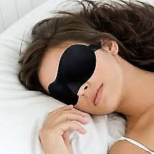Ultra Soft Eye Mask Sleeping Mask with Adjustable Elastic Strap For Travelling