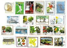 BARBADOS - Selection of Stamps on Paper from Kiloware - 2 Scans