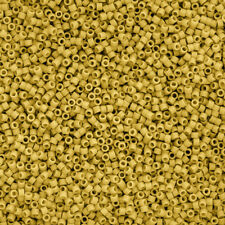 Miyuki Delica Size 10//0 Seed Beads Silver Lined Yellow DBM0145 7.2g K12//11