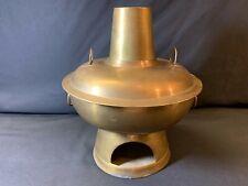Vintage Yunnan Chinese Hotpot Brass Cooking Pot