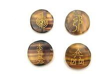 Fluorite Reiki Palm Stone Set with Symbols