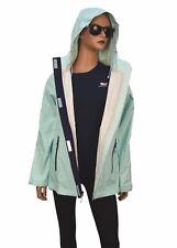 Vineyard Vines Women's Stow & Go Hooded Rain Coat Jacket Crystal Blue $165.00