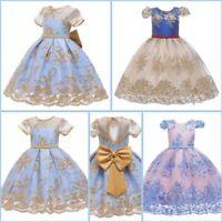 Party Tutu Girl Formal Dresses Princess Baby Wedding Flower Kid Dress Bridesmaid