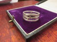 Eleganter 925 Sterling Silber Ring Unisex Modern Super Design Durchbruch Chic