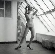 N66 ART NUDE NU REPRINT PHOTO FOTO 20x20cm FROM ORIGINAL 1960'S NEG