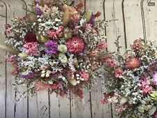 Bridal Bouquet. Beautiful Dried Flower Wedding Flowers Vintage Country Woodland