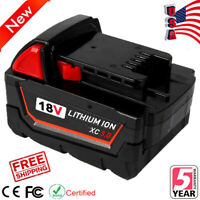 18V for Milwaukee 48-11-1850 Li-ion Battery M18 XC Lithium 48-11-1828 48-11-1852