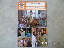 CARTE FICHE CINEMA 2012 THE DICTATOR Sacha Baron Cohen Ben Kingsley