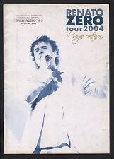 RENATO ZERO TOUR 2004 IL SOGNO CONTINUA... 20 PAGINE FOTO - OTTIME CONDIZIONI