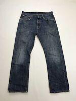 Men's Levi 501 Jeans - W32 L32 - Navy Wash - Great Condition