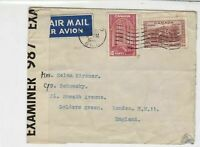 Canada 1940 Opened by Examiner Sticker Airmail to England Stamps Cover ref 21981