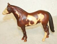 Vintage BREYER MOLDING CO. Horse White and Brown U.S.A. 9'' tall