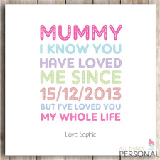 Personalised Birthday Card Christmas Card Mothers Day Mum Mummy Mother's Day