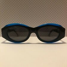 Sonnenbrille Vintage Claude Montana M636 Col 1132 blau schwarz sunglasses NOS