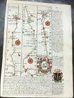 GARSTANG LANCASTER BOULTON KENDAL OWEN BOWEN MAP C1720 FROM BRITANNIA DEPICTA