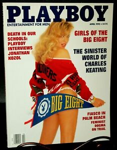 Playboy Magazine April 1992 : Wendy Kaye, Cover : Cady Cantrell, Centerfold