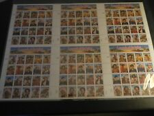 Legends of the West Uncut Press Sheet Signed Numbered 3022/5000 COA