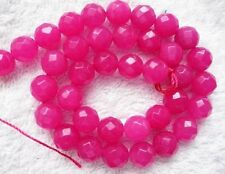 ukcheapest-9 beads beautiful druzy pink agate faceted oval 35x25mm gemstone red