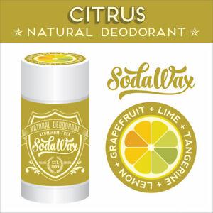 """Citrus"" Natural Deodorant by SodaWax > Lemon+Grapefruit+Lime+Tangerine"