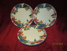 Staffordshire tableware chianti set of 3 dinner plates