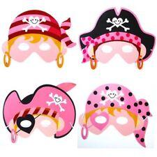 German Trendseller® -8 x Lady Piratin Masken aus Schaumstoff | Miss Lady Pink
