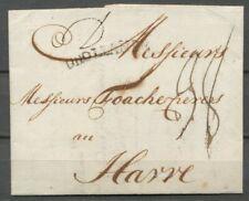 D HOLLANDE GRENSST.OP BRIEF ROTTERDAM-HAVRE 1786 MET D(=DOUBLE),PORT 22+16 Zv695