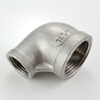 """SS304 1"""" x 1/2"""" Elbow 90 degree angled Reducer Pipe Fitting Female threaded"""