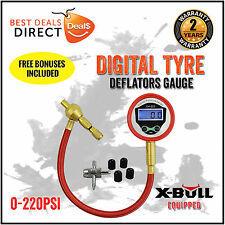 NEW Digital Rapid Tyre Deflator Deflators Gauge Recovery 4X4 Off Road 4WD X-BULL