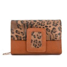 Borsa stampa leopardata in Marrone