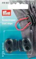 Prym Kordelstopper 2-Loch schwarz 2 St  416657
