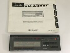 Rare Pioneer CU-AX001 Remote control with operating manual Made in Japan
