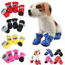 Winter Pet Dog Snow Boots Puppy Soft Anti-slip Warm Shoes Sneakers Booties 4 pcs