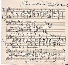POLISH-AMERICAN Composer TADEUSZ JARECKI - SIGNED AUTOGRAPH MUSICAL MANUSCRIPT
