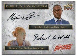 2018 Daredevil Seasons 1 and 2 Dual Autographs SSD-BK Stephen Rider Deborah Ann