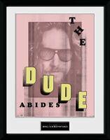 The Big Lebowski The Dude Abides Cinema Collector Print Frame Poster Bild Rahmen