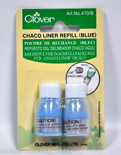 Clover Chaco Liner Chalk Refill Blue