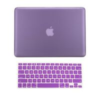 "2 in 1 Rubberized PURPLE Hard Case for Macbook PRO 15"" A1286 with Keyboard Cover"