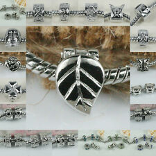 Multi-styles 18KGP EUROPEAN STOPPER CLIP/LOCKS BEADS FINDINGS FIT BRACELET