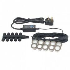 Decking Lights Kit 10 x White LED 30mm Deck/Plinth Lights IP67