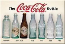 """2"""" X 3"""" THE COCA-COLA BOTTLE OVER THE YEARS REFRIGERATOR MAGNET NEW"""