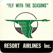 Fly with the Seasons ~RESORT AIRLINES~ Great Old Luggage Label