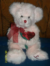 Russ Berrie Rose Pink Teddy Bear With Red Roses Plush Love